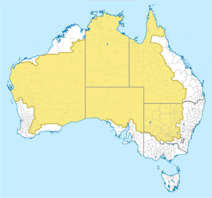 2% of Australia's population lives in the yellow area. Source:  @Amazing_Maps