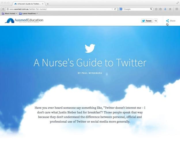 www.ausmed.com.au/twitter-for-nurses
