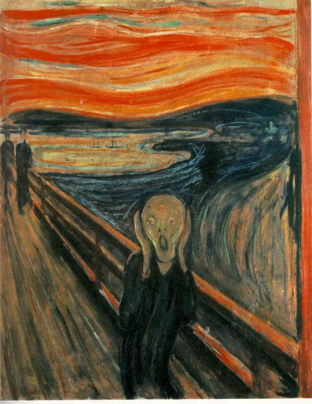 The Scream by Edvard Munch. Source: http://www.ibiblio.org/wm/paint/auth/munch/munch.scream.jpg