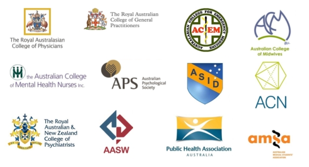 These organisations are cosignatories to a media statement calling for amendments to Australian Border Force Act 2015 https://meta4rn.files.wordpress.com/2015/06/150620-joint-statement-australian-health-groups-call-for-australian-border-force-act-to-be-amended.pdf