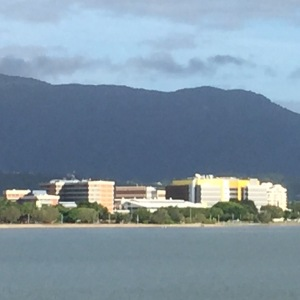 Cairns Hospital from the shipping channel