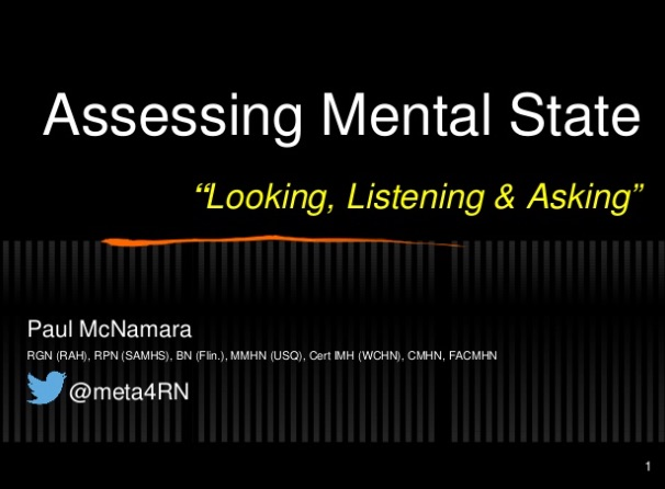 Mental State Examination Looking Listening And Asking Meta4rn
